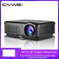 CAIWEI A6/A6AB 1080p проектор Full HD домашний проектор для кинотеатра умный Android WiFi ЖК светодиодный видео проектор для смартфона Proyector
