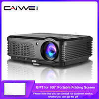 CAIWEI A6/A6AB 1080p Proyector completo Proyector de hogar HD Teatro Smart Android WiFi LCD LED Proyector de vídeo para Smartphone Proyector