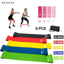 5Pcs/set Yoga Resistance Rubber Bands With Carry Bag Fitness Equipment Pilates Stretching Training Workout Rubber Loop Bands