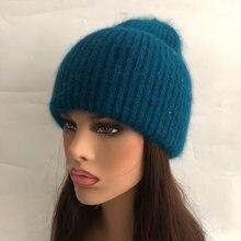 Повседневная новая зимняя шапка однотонные шапки из кроличьего