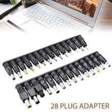28 pçs/set Mono Plug Conector Jack DC AC Universal Plug Power Adapter Apropriado Para Laptop