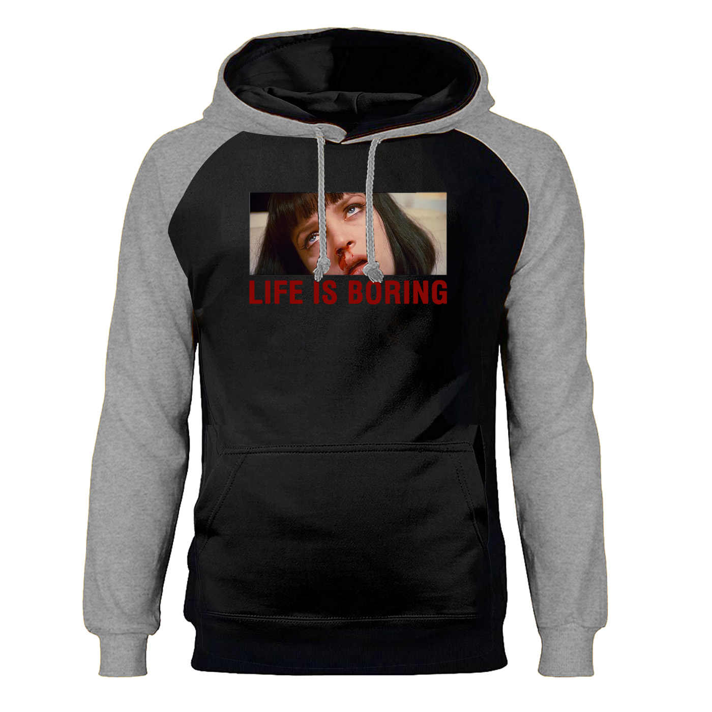 Leon Leben Ist Langweilig Hoodies Sweatshirts Männer Lustige Classic Movie Raglan Mit Kapuze Winter Herbst Fleece Warme Hoodie Streetwear Herren