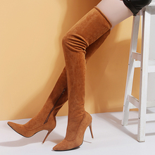 Over The Knee Boots Brand Designer Women's Shoes Woman Boots Thin High Heels Sexy Party Boots Botas De Mujer Plus Size 35-43