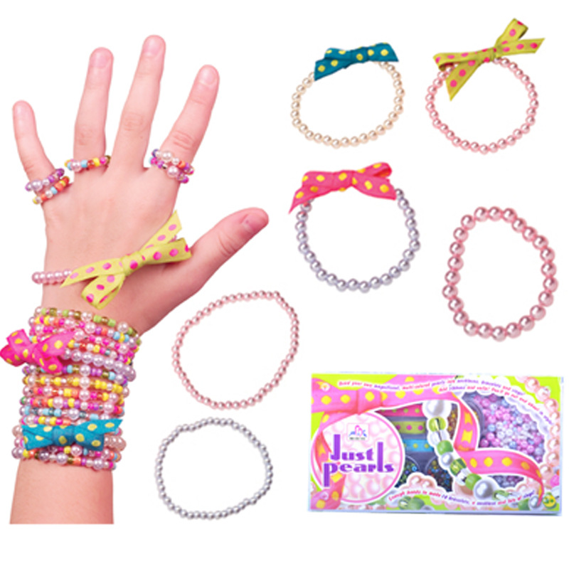 Early Education Children'S Educational DIY Candy-Colored Beaded Bracelet Handmade Toy Loose Beads Braided Bracelet Color 7-Selec
