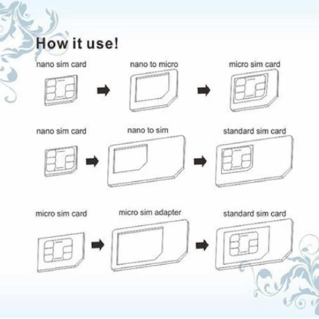 Bộ Chuyển Đổi Khay Sim 3 Trong 1 Micro Sim Adapter Với Đẩy Pin Chìa Khóa Bán Lẻ Bộ Sản Phẩm Dành Cho iPhone 5/5S/6/6S/ Samsung 70 80