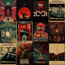 Nuevo Sci-fi 2001 A espacio Odyssey espacio cápsula Retro Vintage clásico película póster Kraft póster lienzo pared pegatina decoración de casa