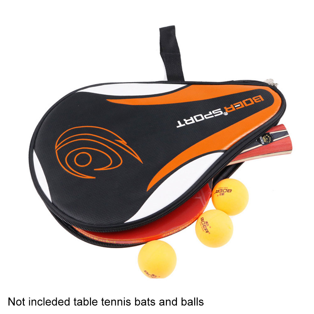 Waterproof Training Sport Accessories Equipment Protective Professional Portable Zipper Pingpong Case Table Tennis Racket Bag