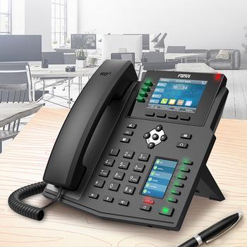 Fanvil X5U Enterprise telefon ip 16 linii SIP VoIP stały telefon bezprzewodowy do domowego biura Hotspot Bluetooth WiFi SIP telefon tanie i dobre opinie BARTUN Rohs CN (pochodzenie) Voip telefon BTX5U Enterprise IP Phone VOIP Phone VOIP Phone Wireless Wireless IP Phone VOIP Phone For Business