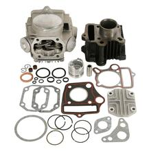 Motorcycle 39mm Bore Cylinder Head Piston Engine Rebuild Kit For Honda Z50R XR50 CRF50 50CC