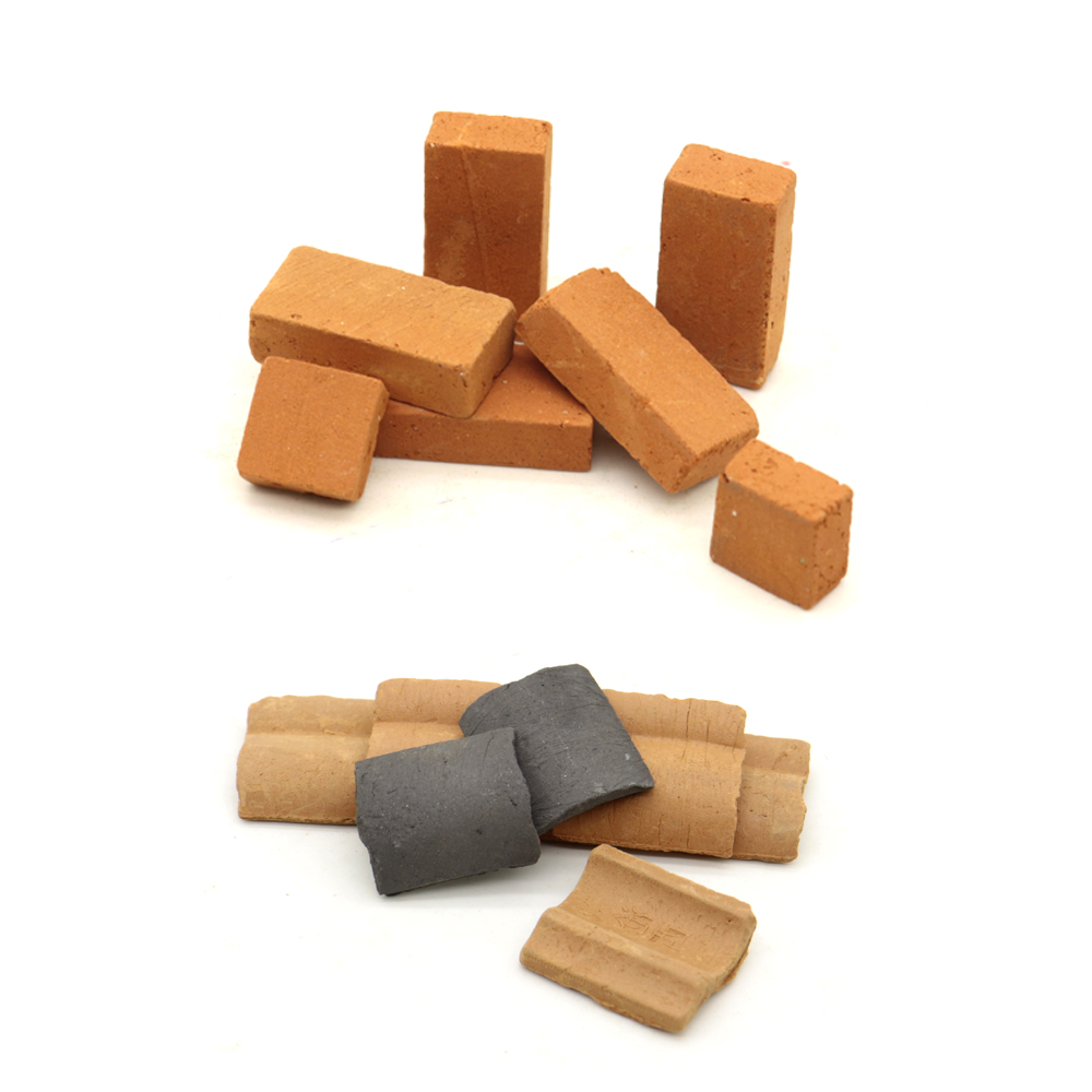 Brick Model Toy Antique Micro Landscape 1 \ 16 Mini Red Brick Handmade DIY Gardening Sand Table Construction Scene