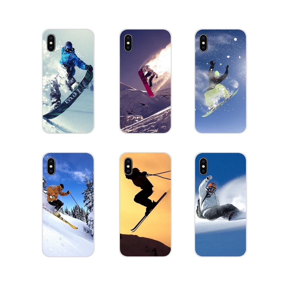 Transparent TPU Cases Covers Snow Or Die Ski Snowboard For Samsung Galaxy J1 J2 J3 J4 J5 J6 J7 J8 Plus 2018 Prime 2015 2016 2017