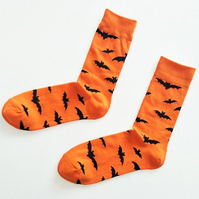 Мужские и wo мужские чулки средней длины хлопковые носки с героями мультфильмов на Хэллоуин 2019 Новый модный стиль