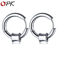 OPK personality hip hop jewelry round wire Earrings stainless steel men's Ring Earrings