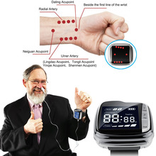 650nm laser light /wrist Diode low level laser therapy LLLT for diabetes hypertension treatment 650nm laser therapy wrist low frequency hypertension hyperlipidemia hyperviscosity cholesterol treatment laser therapy watch