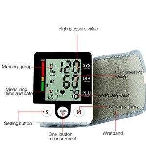 Image 4 - Casa lcd digital pulso sphygmomanômetro presure medidor de sangue monitor freqüência cardíaca pulso portátil tonômetro saúde equipamentos médicos