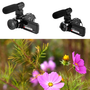 Image 2 - 16X Digital Zoom Video Camera Camcorder 1080P HD WIFI Wide Angle Lens/Outer Microphones Remote Control