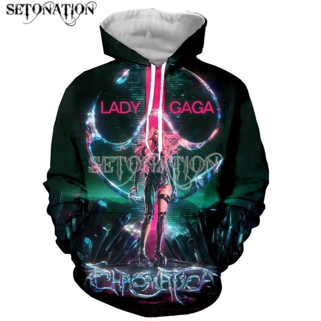 Lady gaga Chromatica Funny New Fashion Long Sleeves 3D Print Zipper/Hoodies/Sweatshirts/Jacket/Men/women dropshipping