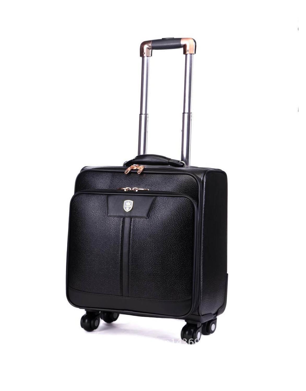 BeaSumore мужские чемоданы на колесиках из искусственной кожи, 24 дюйма, ретро-колесо, чемоданы, 16/20 дюймов, тележка, пароль, дорожная сумка - Цвет: 16 inch