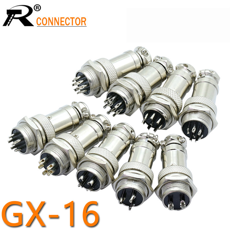 1Set GX16 XLR 16mm <font><b>2</b></font> 3 <font><b>4</b></font> 5 6 7 8 9 10 <font><b>Pin</b></font> Female Plug Male Chassis Mount Socket Aviation Connector High Quality image