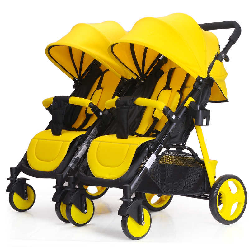 Twins Baby Stroller 2 In 1 Umbrella Multiple Stroller Baby Cart Can Be Divided  Can Sit Flat Lying Double Baby Stroller 0-3Y