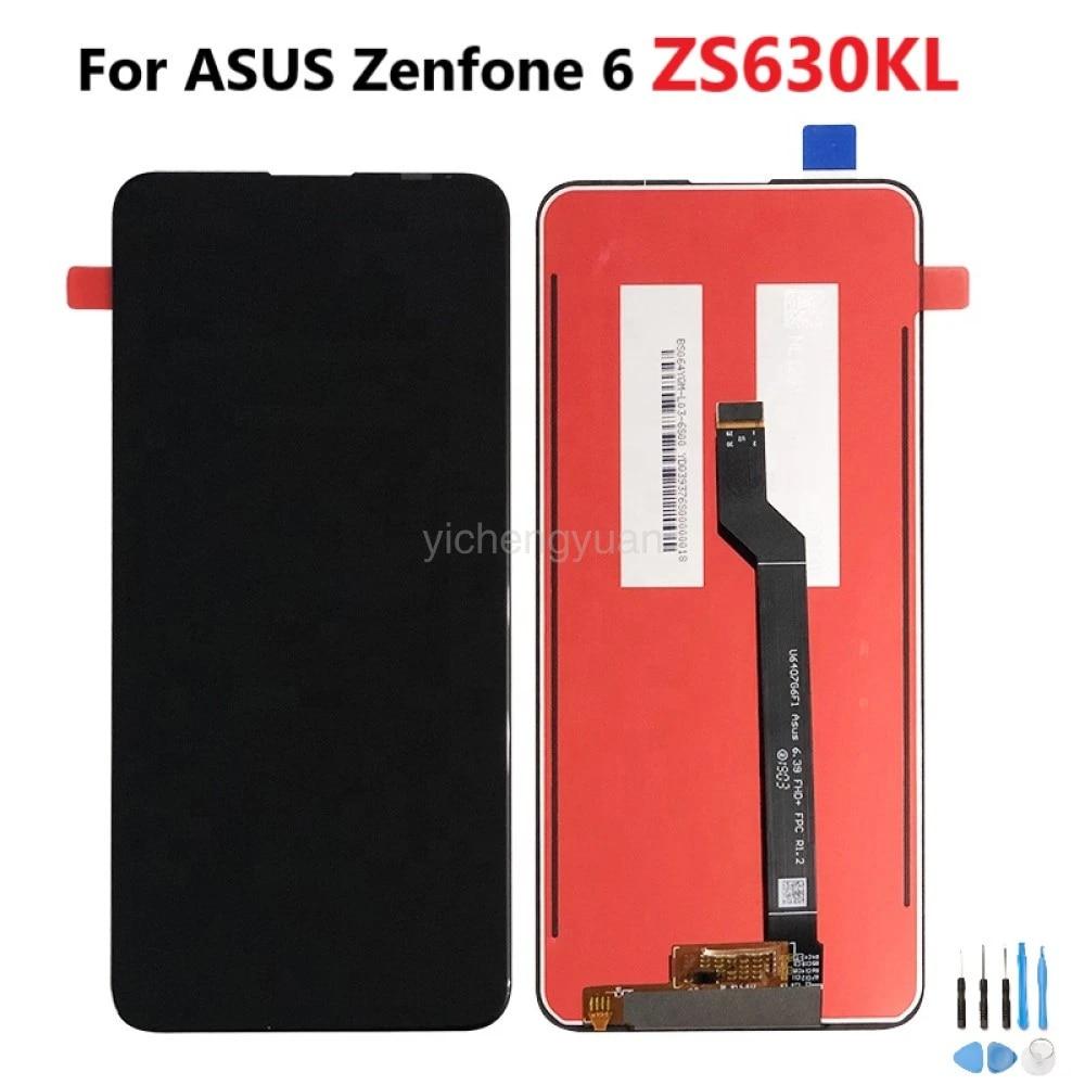 Midnight Black 6z Display LCD Touch Digitizer Screen Replacement for Asus Zenfone 6 ZS630KL Zenfone 6 2019 ZS630KL