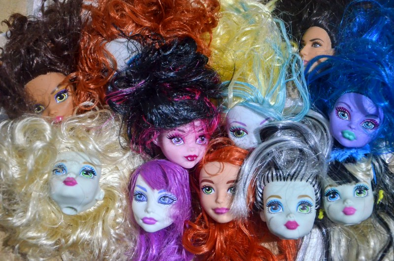 Special Offer New Brand Original Heads For Monster Highschool Doll Toys Doll Accessories Hazy Beauty DOLL Head