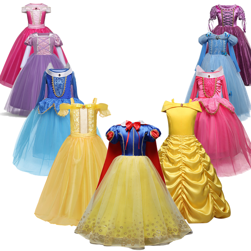 Girls Princess Dress for Kids Halloween Cosplay Costume Children Dress 1