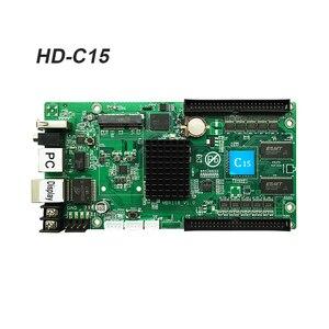Image 2 - Karta asynchroniczna HD C15 HUB75 interfejs danych RGB pełny kolor karta kontrolna wyświetlacza led, 112x1024 pikseli, karta kontrolna WIFI LAN USB