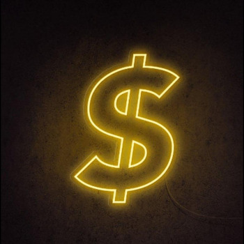 Dollar Neon Sign