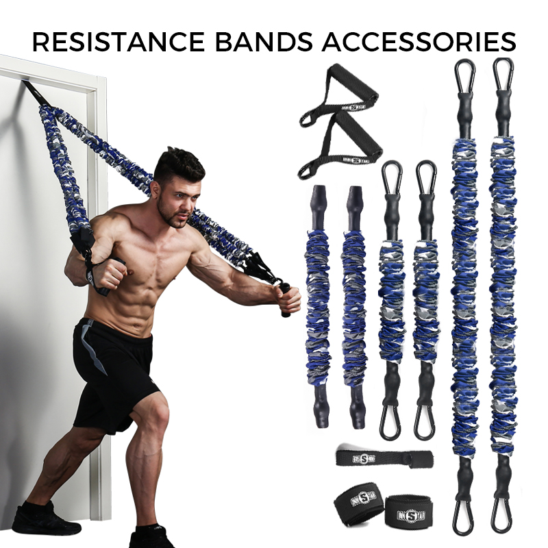 INNSTAR Resistance Bands Accessories Elastic Band Fitness Handle Foot Strap Gym Full Body Workout Bench Press Exercise Equipment 1