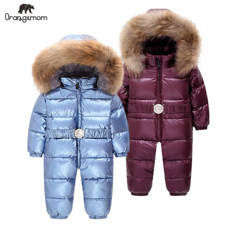 Overalls for boys winter down jacket for children from 1 to 4 years old