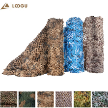 LOOGU Single Layer White Woodland Camouflage Nets Army Military Camo Netting Outdoor Hunting Sun Shelter Party Decor Hiding Mesh 2 3m 2 4m 3 3m hunting military camouflage nets woodland army training camo netting car covers tent shade camping sun shelter