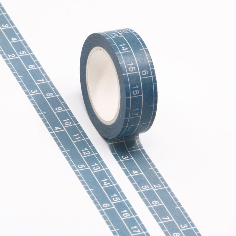 10pcs/lot Decorative Scale Measurement Grid Washi Tapes Paper DIY Scrapbooking Planner Adhesive Masking Tapes Kawaii Stationery