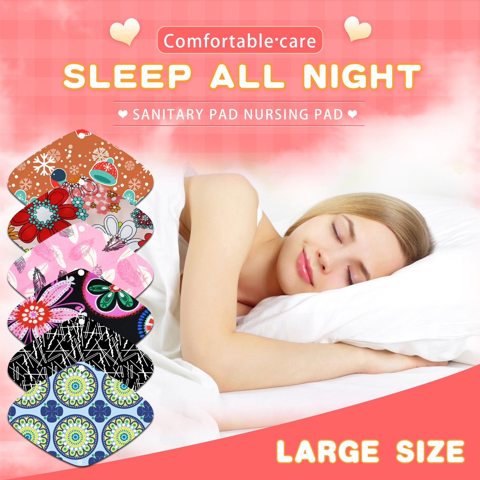1Pcs Reusable Pad Cotton Cloth Women Panty Liner Washable Menstrual Pad Mama Reusable Soft Washable Sanitary Towel Pad