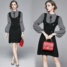 Zuoman для женщин в винтажном стиле; Сезон осень трикотажное