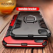 KISSCASE Shockproof Case For iPhone 6 6S 7 8 Plus XS 11Pro Max X 5 5S Se Xs XR Finger Ring Holder Carcasa