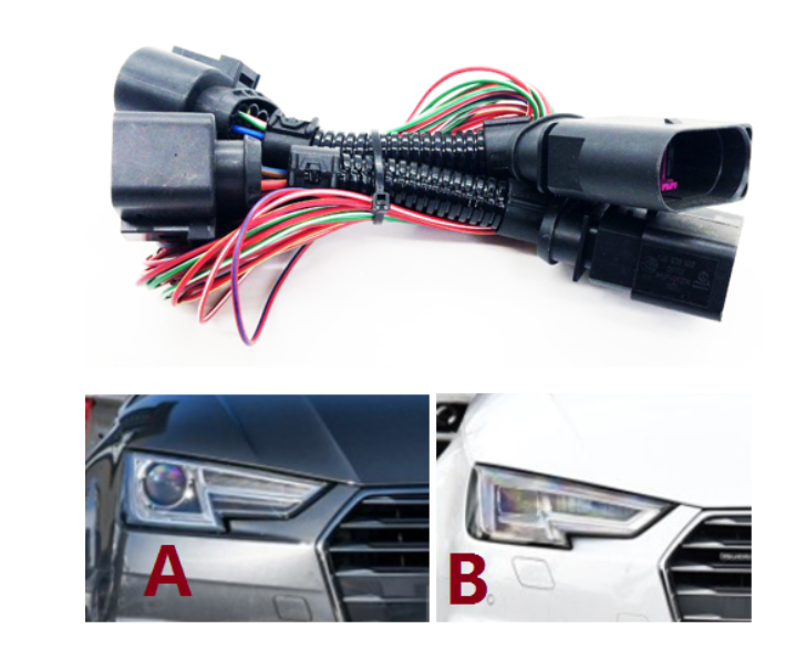 HID LED Headlights Connecting wire harness matrix Headlight Adapter For Audi  A4/B9 Headlight conversion line|Cables, Adapters & Sockets| - AliExpress | Audi Q7 Headlight Wiring Harness |  | AliExpress