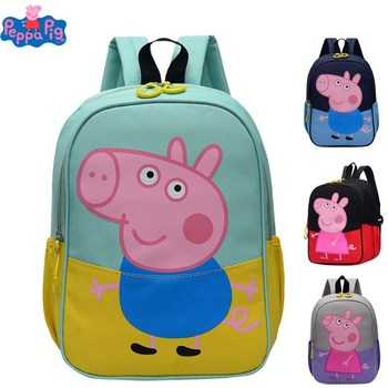 Peppa Pig George George Kindergarten Backpack Canvas Portable Shoulder Children Cartoon Backpack Gift Boy Girl george hansen what is a kindergarten