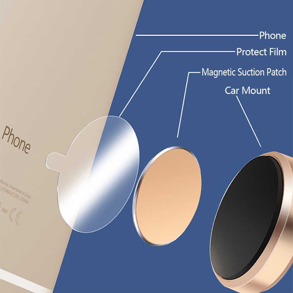 4Pcs Logam Piring untuk Pemegang Ponsel Magnetik Mobil Replacemen Bulat Perekat Besi Lengket Magnet Disk Ponsel Pemegang