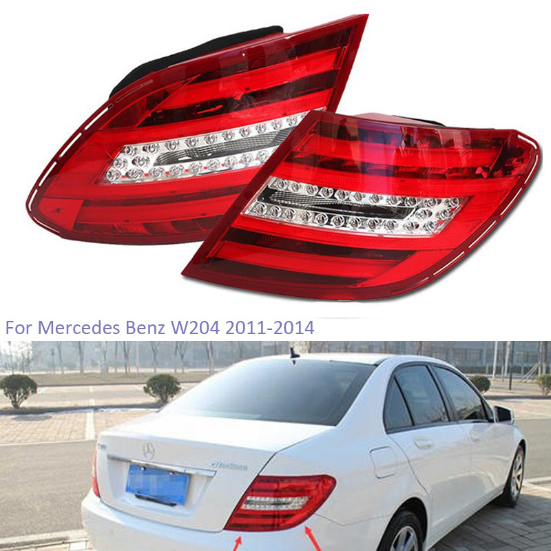 YTCLIN Rear Tail Light for <font><b>Mercedes</b></font> Benz W204 C180 C200 C220 C260 C280 <font><b>C300</b></font> 2011-2014 Rear Bumper Light Stop Lamp Brake Light image