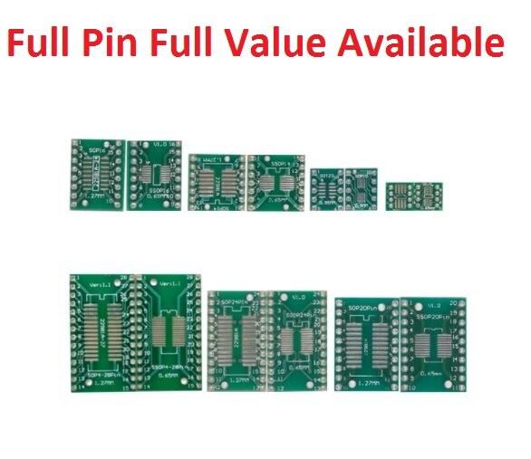 5 шт. адаптер PCB монтажная плата комплект SMD QFP LQFP QFN FQFP поворот к DIP SOP SSOP TSSOP SOT23 8 10 14 16 20 24 28 SMT к DIP