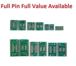 5PCS adapter PCB Circuit Board Kit SMD QFP LQFP QFN FQFP Turn To DIP SOP MSOP SSOP TSSOP SOT23 8 10 14 16 20 24 28 SMT To DIP