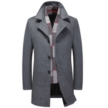Thicken Jackets For Male Clothing Business Casual Men' s Woolen Jacket XXL XXXL Winter Warm Wool & Blends(China)