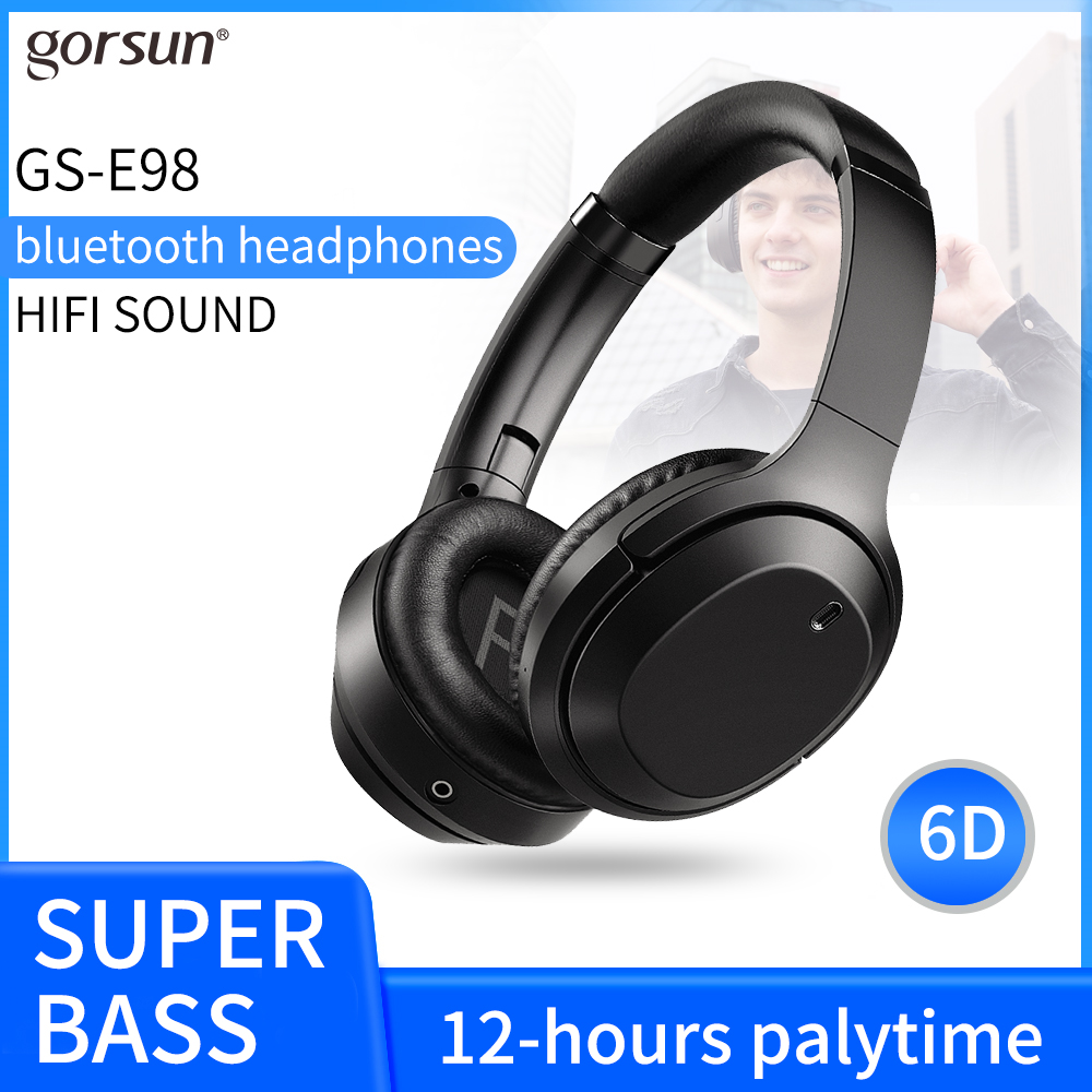 GURSUN E98 new headset Bluetooth headset wired wireless headset foldable Bluetooth 5 0 stereo headset AUX with microphone