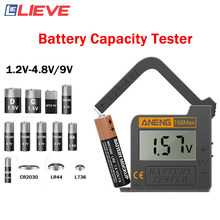 168max digital testador de bateria de lítio capacidade da bateria ferramenta diagnóstico display lcd verificar aaa aa 6f22 9v cr2032 bateria botão