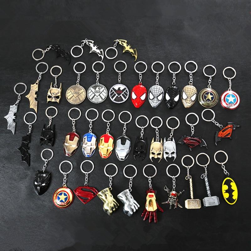 2019 Hot Sale Avengers Keychain Metal Car Pendant Gift Key Chain Marvel USA Captain Shield