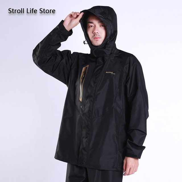 Adults Motorcycle Raincoat Rain Pants Set Breathable Waterproof Suit Rain Coat Jackets Mens Sports Suits Casaco Masculino Gift 4