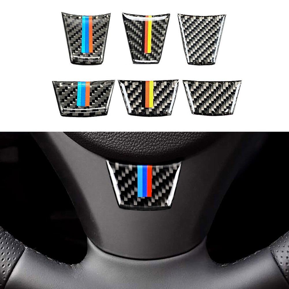 Car Steering Wheel Sticker For BMW E90 E92 E93 3 Series Classic Styling Decor Interior Tuning Accessories Carbon Fiber Decal