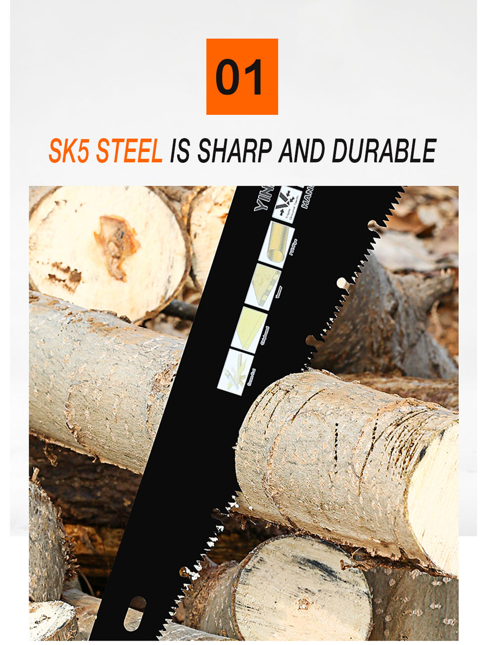 AI-ROAD handsaw SK5 Steel is sharp and durable
