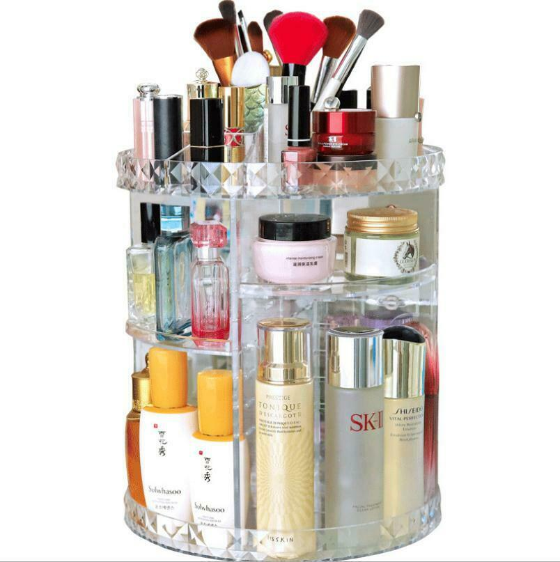 Rack-Holder Rotating-Organizer Cosmetic Acrylic-Case Makeup Luxury 360-Degree Hot Sells title=